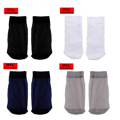 US_3 Pairs Mens Thin Short Stockings Socks Breathable Absorb Sweat Silk Soft New