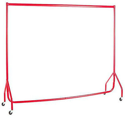 Garment Rails RED HEAVY DUTY 4ft Retail Market Hanging Clothes Shop Displays❤