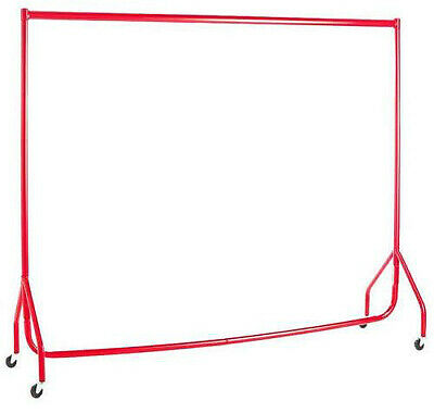 Garment Rails RED HEAVY DUTY 6ft Retail Market Hanging Clothes Shop Displays❤