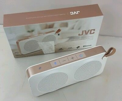 JVC SP-AD60-M Portable Bluetooth Wireless Speaker - White & Gold SMALL PROBLEM