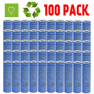 LOT 100x 18650 3.7V 3800mAh Li-ion Rechargeable Battery Cell For Flashlight USA