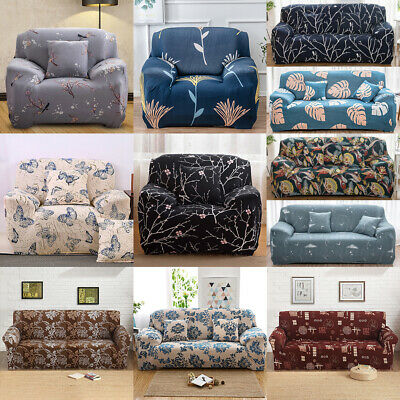 1/2/3 Sofa Couch Slipcover Stretch Covers Elastic Fabric Settee Protector Fit