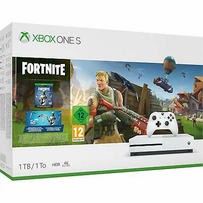 Xbox One S 1TB Fortnite Console With Eon Cosmetic Set And 2000 V Bucks