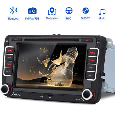"For VW Golf 5 6 Plus Caddy 7"" 2 din Autoradio Stereo DVD Player GPS Navigatore"