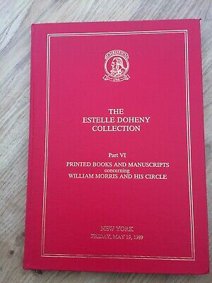 Rare Kelmscott Press Estelle Doheny Collection HB Sale Catalogue 1989 New York