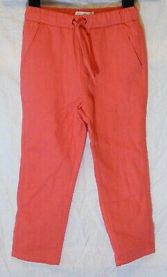Girls La Redoute Pink Drawstring Waist Textured Casual Trousers Age 3-4 Years