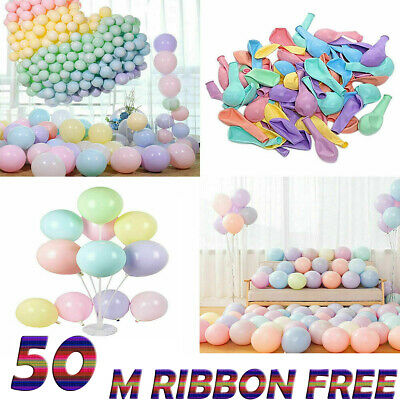 "5"" inch Macaron Candy Colored Balloons Pastel Latex Balloons 100pcs Party Deco"