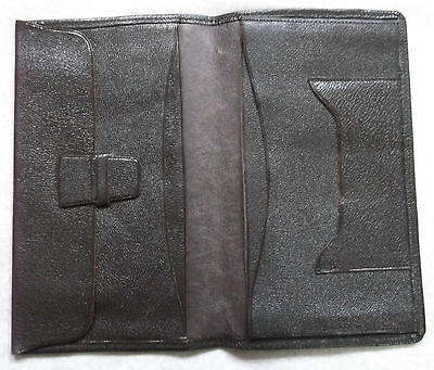 Wallet Vintage Leather DARK BROWN BI FOLD DRIVING LICENCE CASH 1960s 1970s