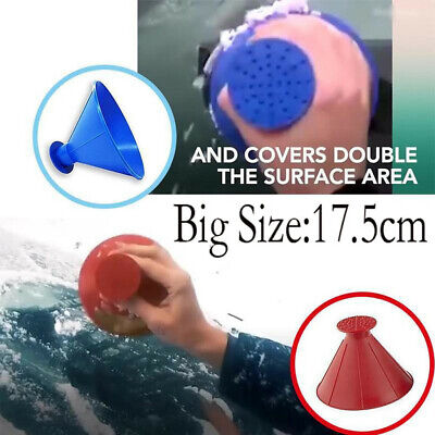 Car Windshield Magic Ice Scraper Tool Cone Shaped Outdoor Funnel Remover Snow kp