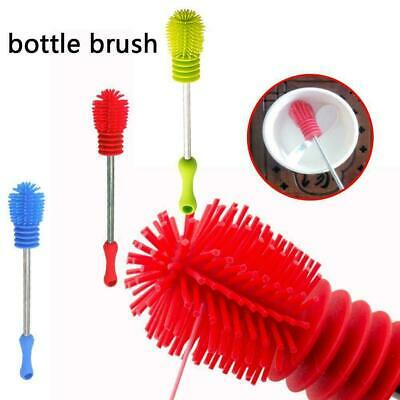 Bottle Brush Cup Scrubbing Silicone Kitchen Cleaner Cleaning For Washing R0U9