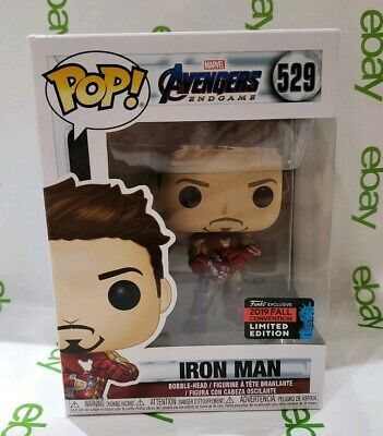 Funko POP Marvel Endgame Iron Man Tony Stark with Infinity Gauntlet NYCC 2019