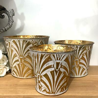 Vintage Style Gold Metal Plant Flower Pot Herb Planter Wedding Table Centrepiece