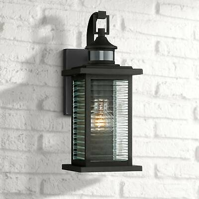 Traditional Outdoor Wall Light Fixture Black Scroll 19 For