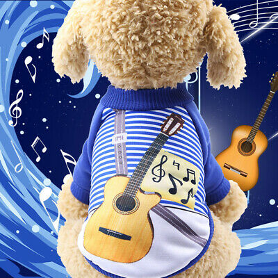 Pet Sweater Soft Cute Guitar Sweater Small Dog Clothes Winter Warm Puppy Sweater