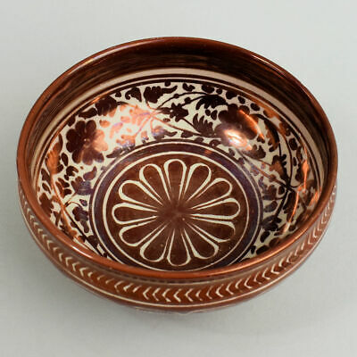 Antique Cantagalli Italian Red Lustre Pottery Bowl C.1880