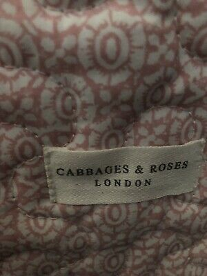 Cabbages And Roses Pink Quilt/eiderdown/throw/blanket BNWT RRP £100.00 200x200cm