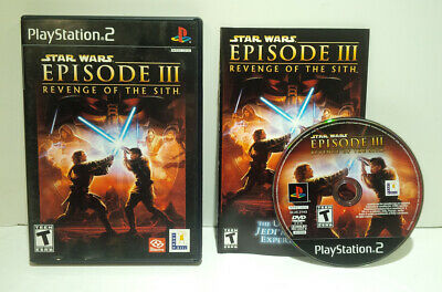 Star Wars Revenge Of The Sith PS2 Playstation 2 Game Complete NEAR MINT DISC