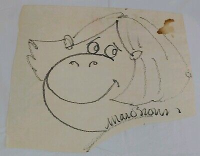 Author Marc Brown of Arthur Childrens Books Original Sketch Drawing Signed RARE!