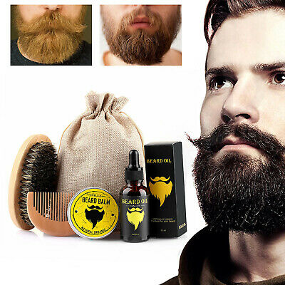 Beard Growth Kit for Men - Grooms Beard Mustache boost hair growth Beard Oil NEW