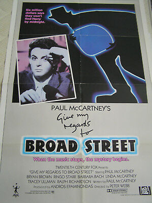 "Paul McCartney   ""Give my regards to BROADSTREET""  USA Filmposter"