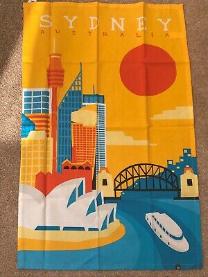 Brand new, bright and colourful tea towel from Sydney, Australia