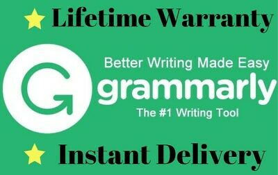Grammarly Premium 1 Year/W Lifetime Warranty | INSTANT DELIVERY |