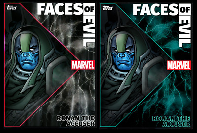 TOPPS MARVEL COLLECT CARD TRADER FACES OF EVIL RONAN THE ACCUSER Motion & Static