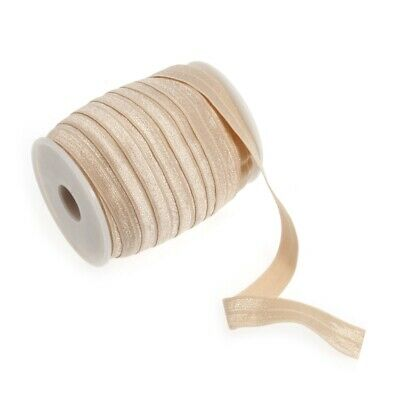 Fold Over Elastic - 16mm - Peach - Per Metre