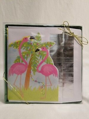 18 Count Christmas Boxed Cards - Flamingos with Palm Tree