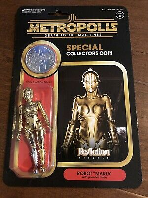 "Super 7 - 2019 SDCC Metropolis Reaction Action Figure & Coin - ""Star Wars Style"""