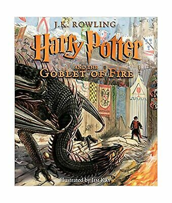 Harry Potter and the Goblet of Fire: The Illustrated Edition Hardcover  * NEW *