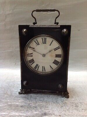 Unusual Vintage Large Carriage Or Mantle Clock - Non Working Very Old Clock