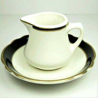 Homer Laughlin Best China Restaurant Ware Individual Creamer and Saucer 1970s