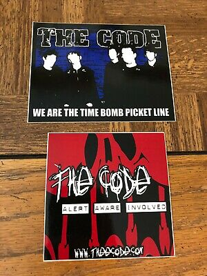 THE CODE punk rock band stickers Anti-Flag A-F Records Pittsburgh PA Ska Emo HXC