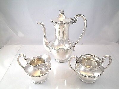 Antique Wilcox Silver Plate After Dinner Demitasse Coffee Chocolate Set Minty