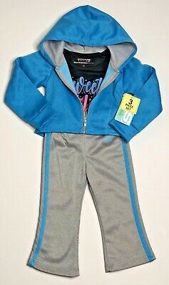 NEW Skechers Infant Girls 3 Piece Hooded Jacket Pants Shirt Active Wear Set 18M
