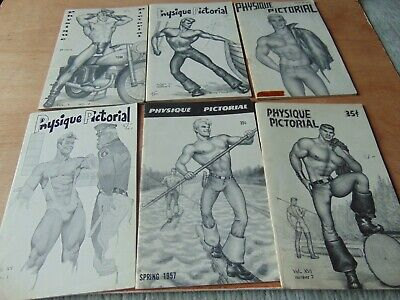 SCARCE JOB LOT 6 1950s BODYBUILDING PHYSIQUE PICTORIAL MAGAZINE GAY INTEREST