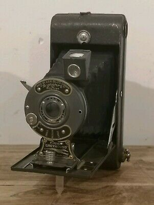 Vintage Houghton Ensign Greyhound Folding Camera - Peri Lens