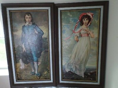 1940-1950'S Little Boy Blue By Gainsborough & Pinki By Thomas Lawrence - Reprod