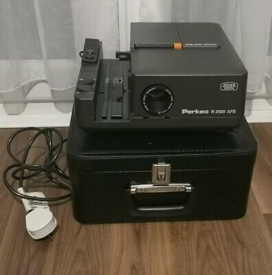 ZEISS IKON PERKEO R 2500 AFS 35mm SLIDE PROJECTOR with REMOTE, PREVIEW, MONITOR