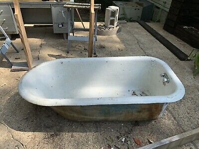 5' Porcelain Claw Foot Bath Tub Vintage Art Deco Nouveau Victorian Cast Iron c