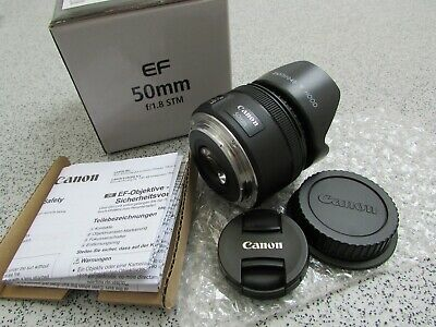 Boxed Canon EF 50mm 1:1.8 STM Lens (STB60)