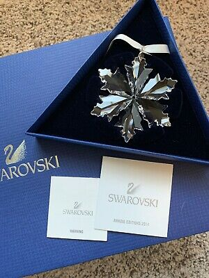 Large Swarovski Crystal Annual Christmas Ornament 2014 SNOWFLAKE NIB 5059026