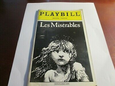 May 2003 - The Imperial Theatre Playbill - Les Miserables