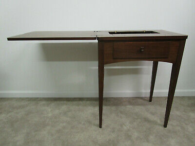 Vintage Empty Singer Sewing Machine Cabinet Table Mid Century E031192