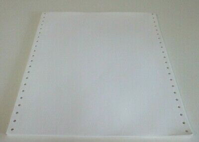 Dot Matrix Printer Paper - Continuous Track Feed - Vintage Computer - 40 Pages
