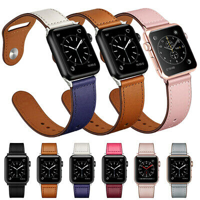 Genuine Leather Band For Apple iWatch Watch Series 5 4 3 2 1 40mm 44mm 38mm 42mm