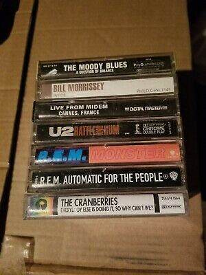Lot of 7 Rock Pop Jazz Cassette Tapes REM Cranberries U2 Moody Blues Morrissey