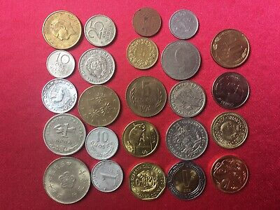 World Coins X24 Different Countries