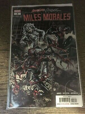 Absolute Carnage MILES MORALES 3 NM 3A MAIN First 1st print Cover 2019 Ahmed